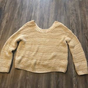 Vince Cream Colored Chunky Knit Sweater size XS